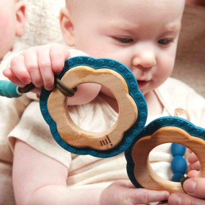 ocean wood silicone teether lifestyle 2 1