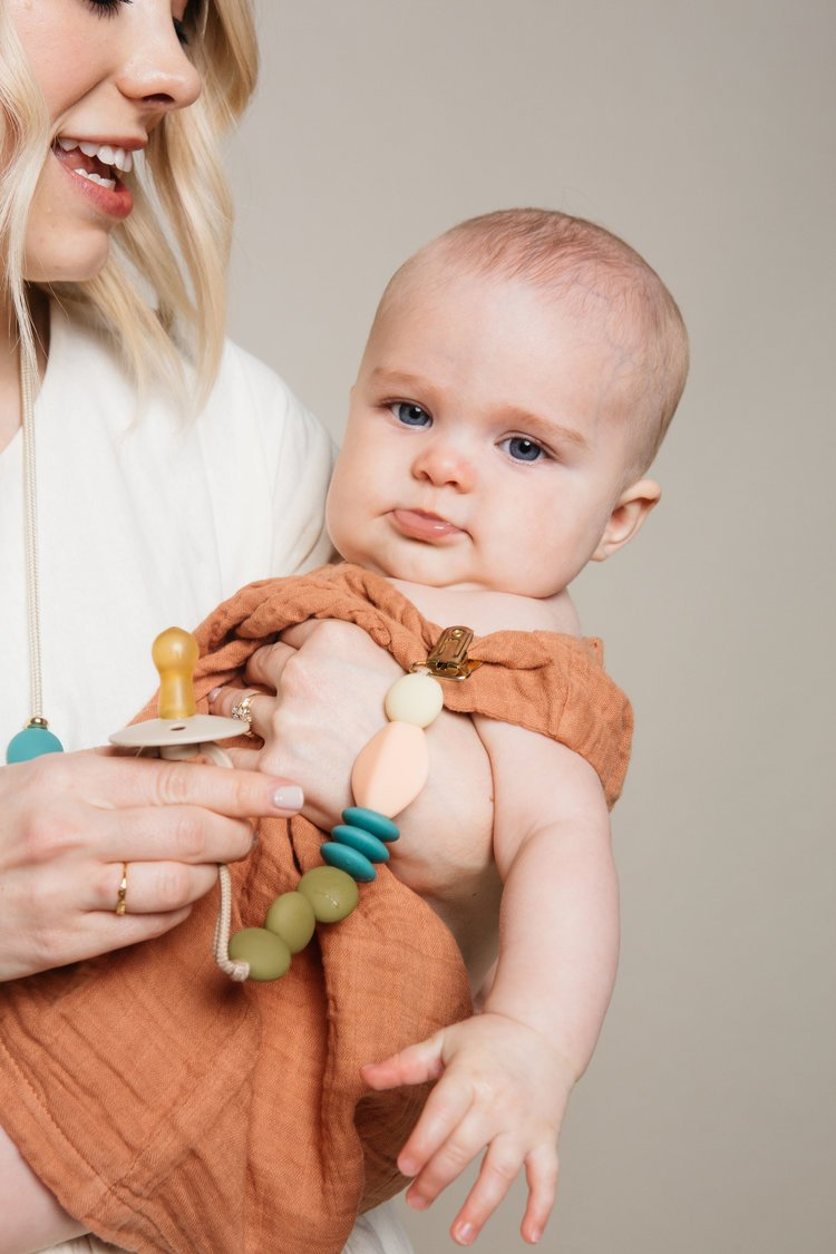 Dewdrop Teething Clip Color Story