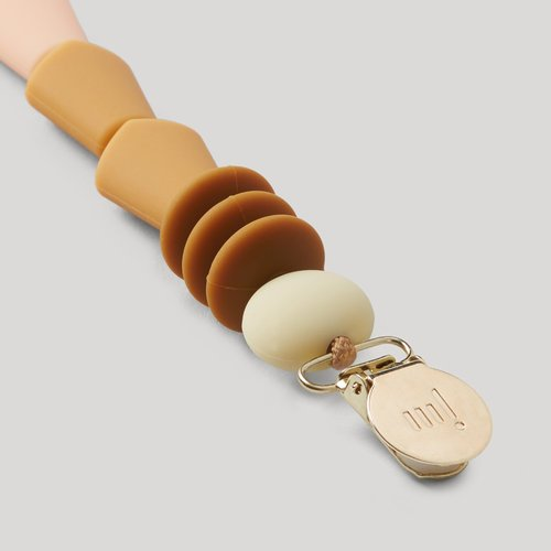 PacifierClip Tan Angled 1
