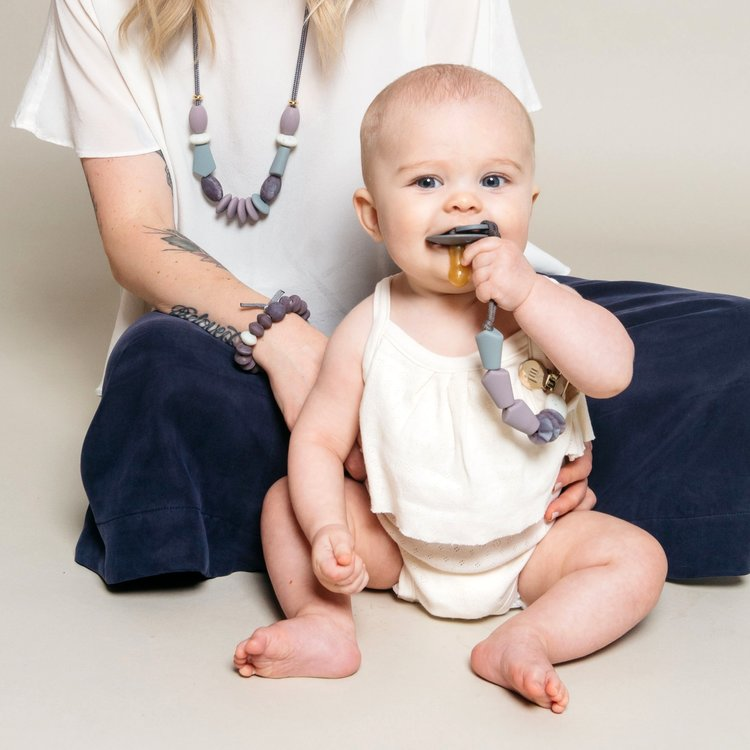 Pewter Signature Teething Necklace Color Story