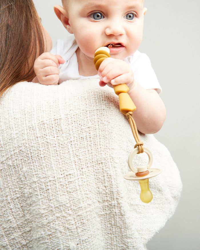 honey pacifier clip lifestyle