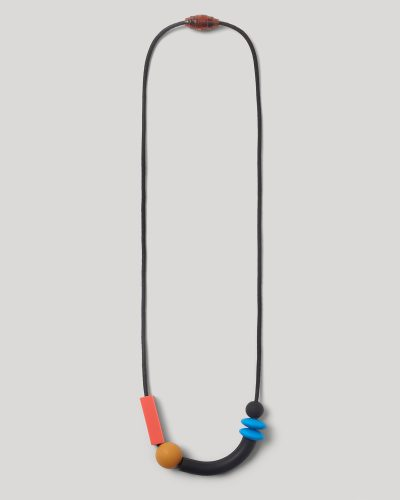 cobalt balance teething necklace