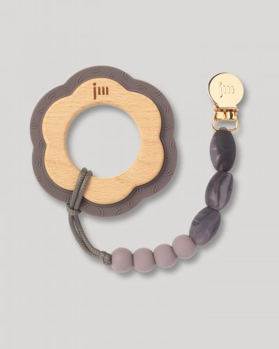 pewter teether and clip set 1
