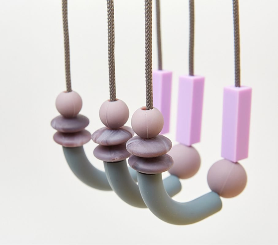 pewter balance teething necklace blog feature