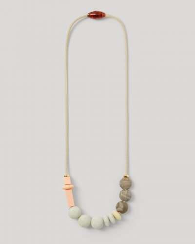 Necklace Long Peach OnGray