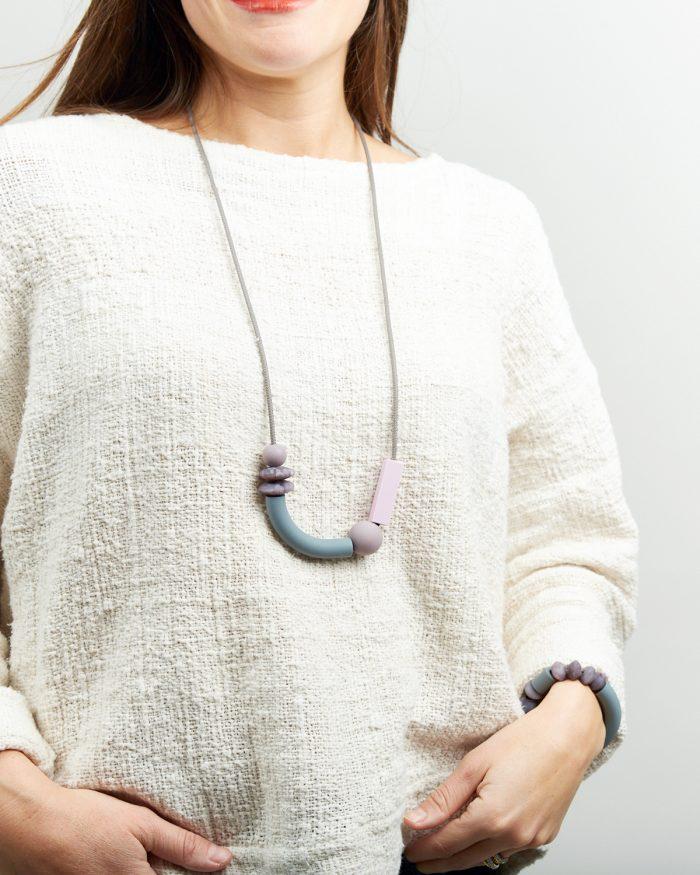 pewter balance necklace lifestyle