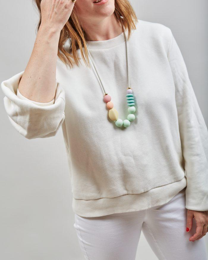 rainbow signature necklace