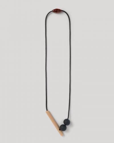Tilt Necklace Charcoal